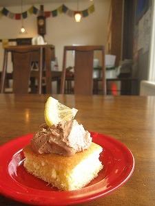 ココアクリームとレモンのケーキ